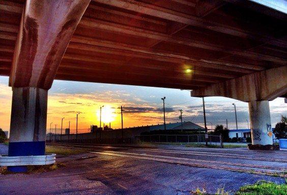 Sunset over Sloss Furnaces