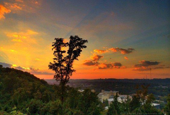 Katherine's Sunset - overlooking Samford and Brookwood