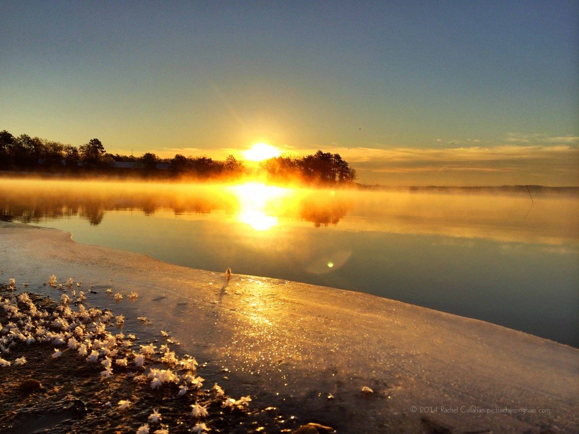 Sunrise over a Frozen Shore