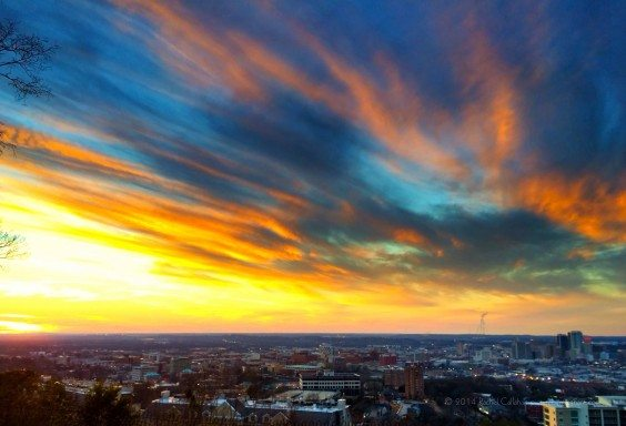 Brushstrokes over Birmingham