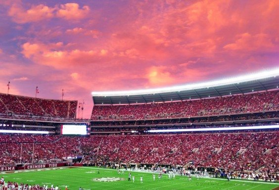 Pink Skies Over Tuscaloosa