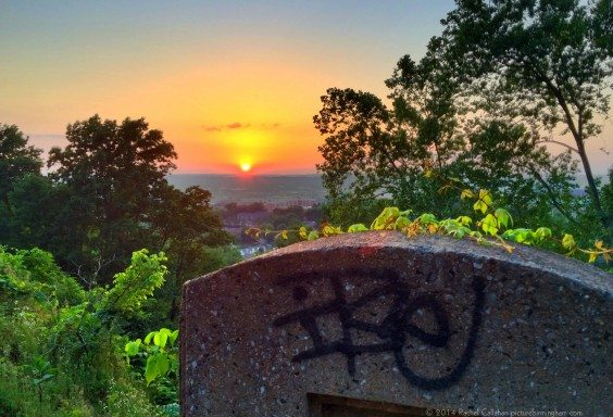 Birmingham Graffiti Tombstone Sunset