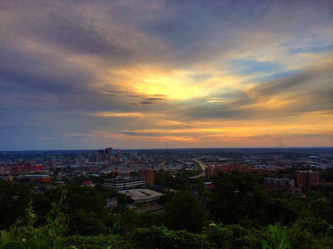 Watercolors Over Birmingham