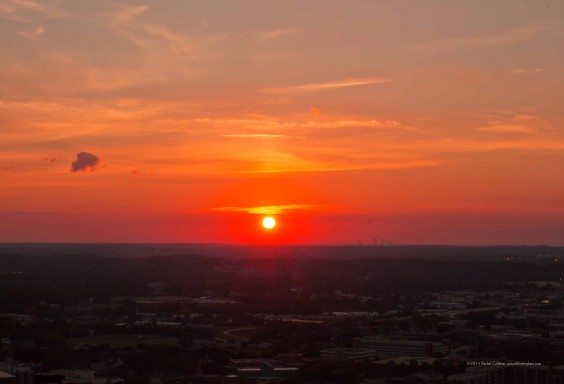 Sunset on the Smokestacks