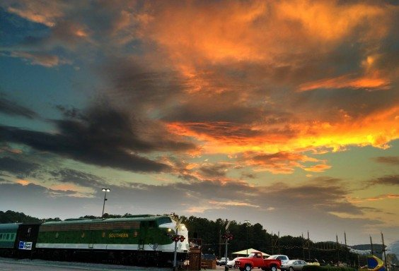 Train and Sky