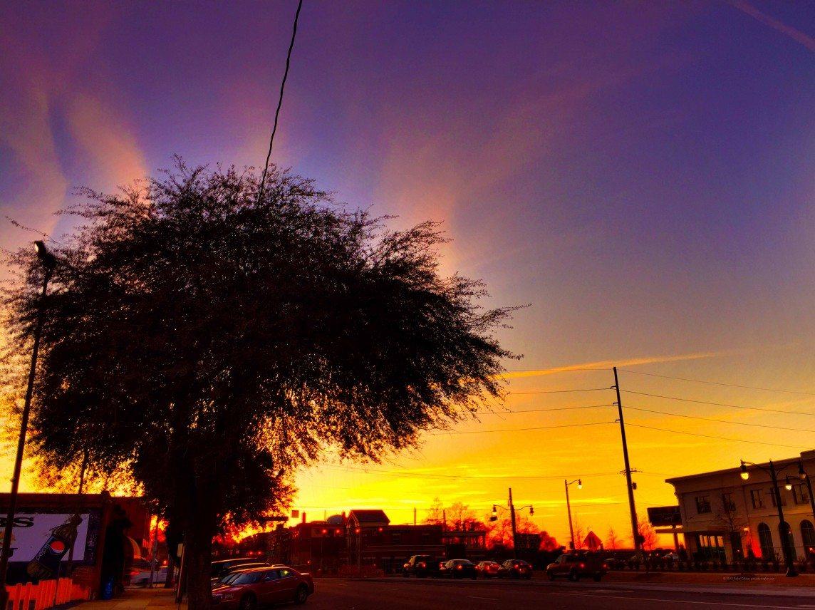 Sunset down University Drive