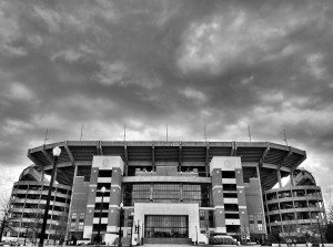 150308BW Storm Brewing over Bryant-Denny