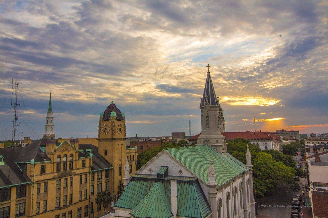 Skies Opened Up over Savannah