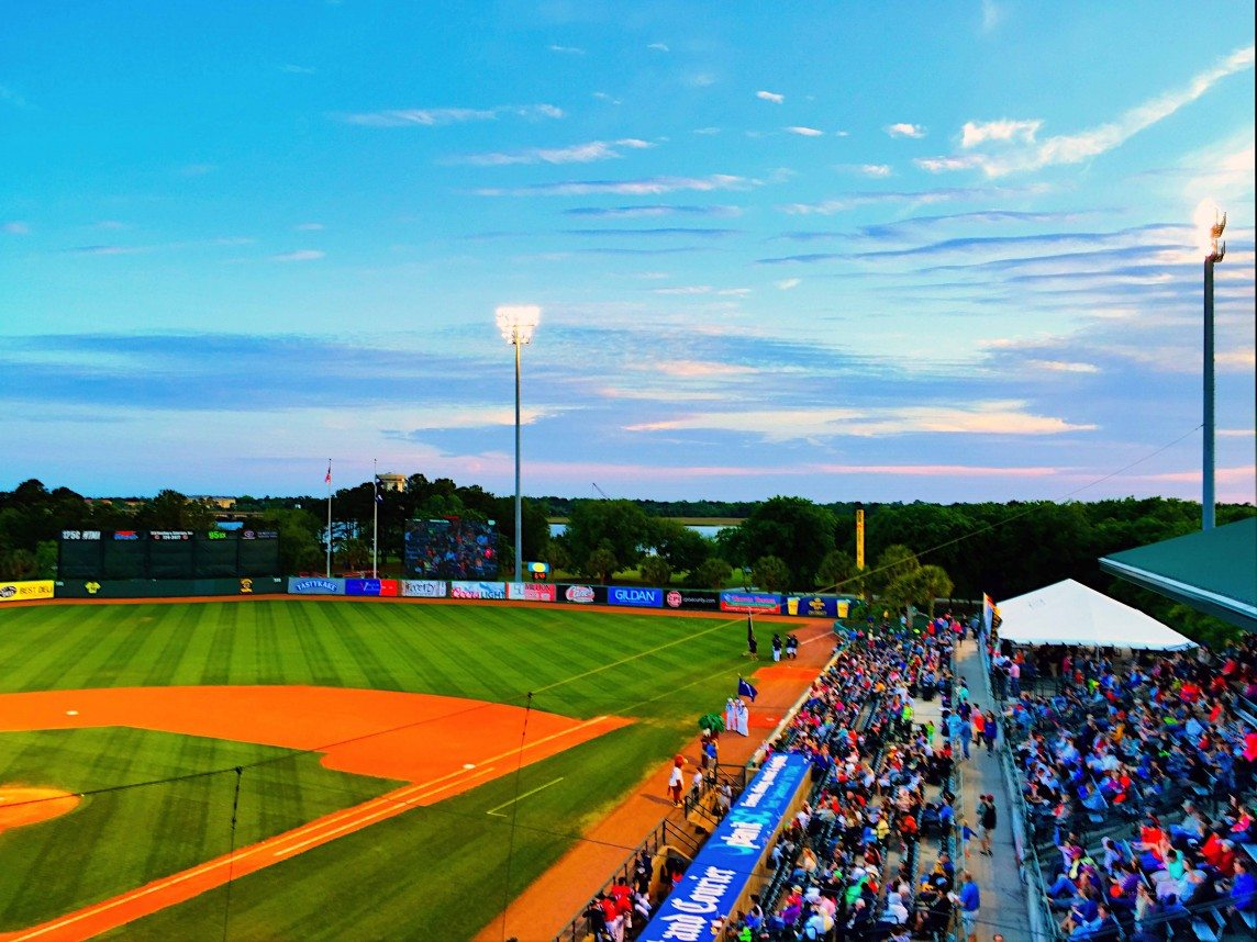 Skies over the Charleston Riverdogs