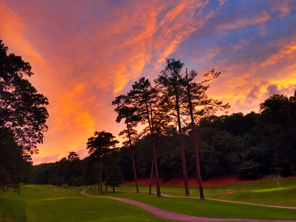 Neons over Mountain Brook Country Club