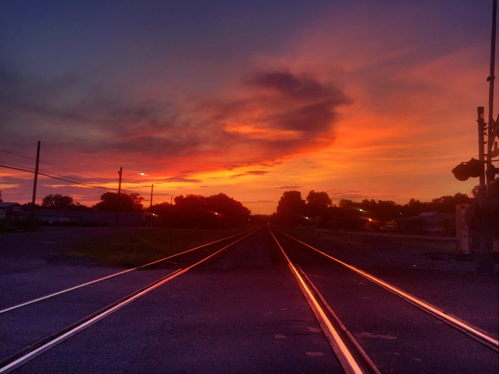150727 Sunset on the Tracks