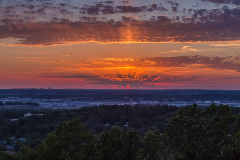 170526 Sunset From Ruffner Mountain _MG_8798 s