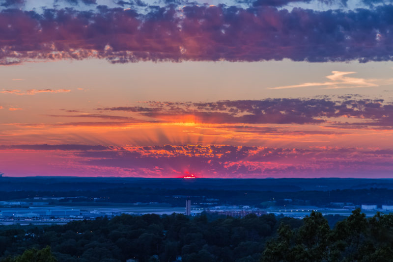170526 Sunset From Ruffner Mountain _MG_8843 s