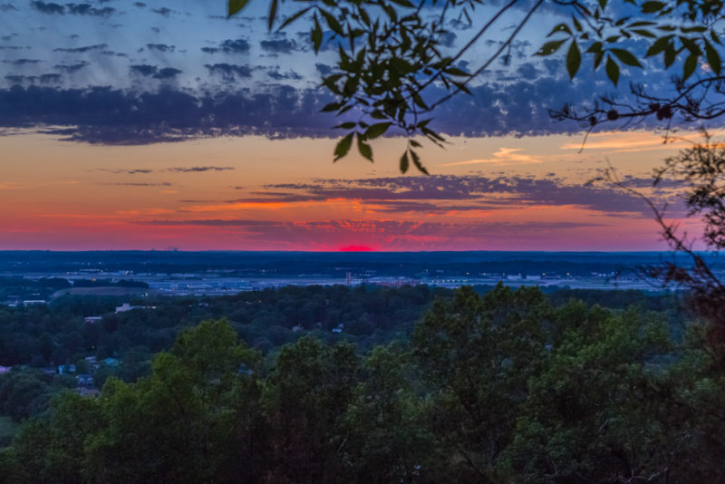 170526 Sunset From Ruffner Mountain _MG_8856 s