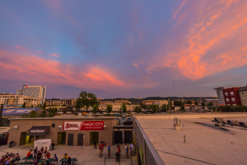 170712S Sunset from Regions Field_5 s