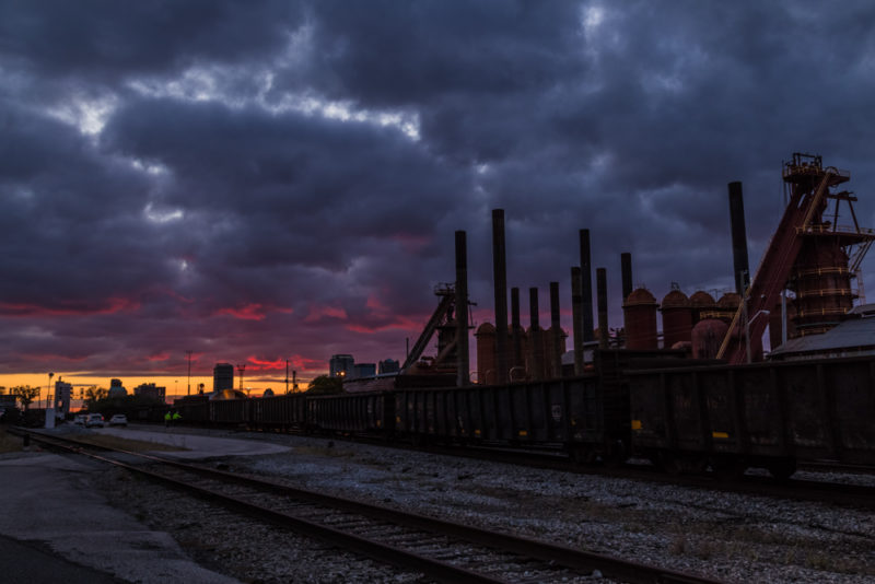 171029b Sloss Furnaces in a Frightful Sunset IMG_5299