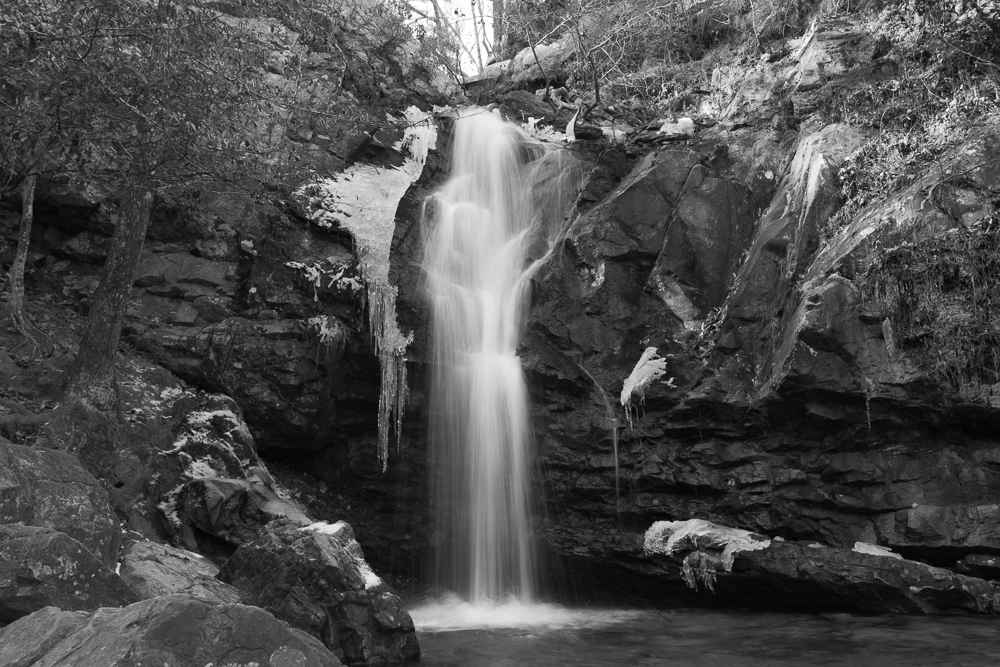 180119 Peavine Falls with Ice BW IMG_1837 s