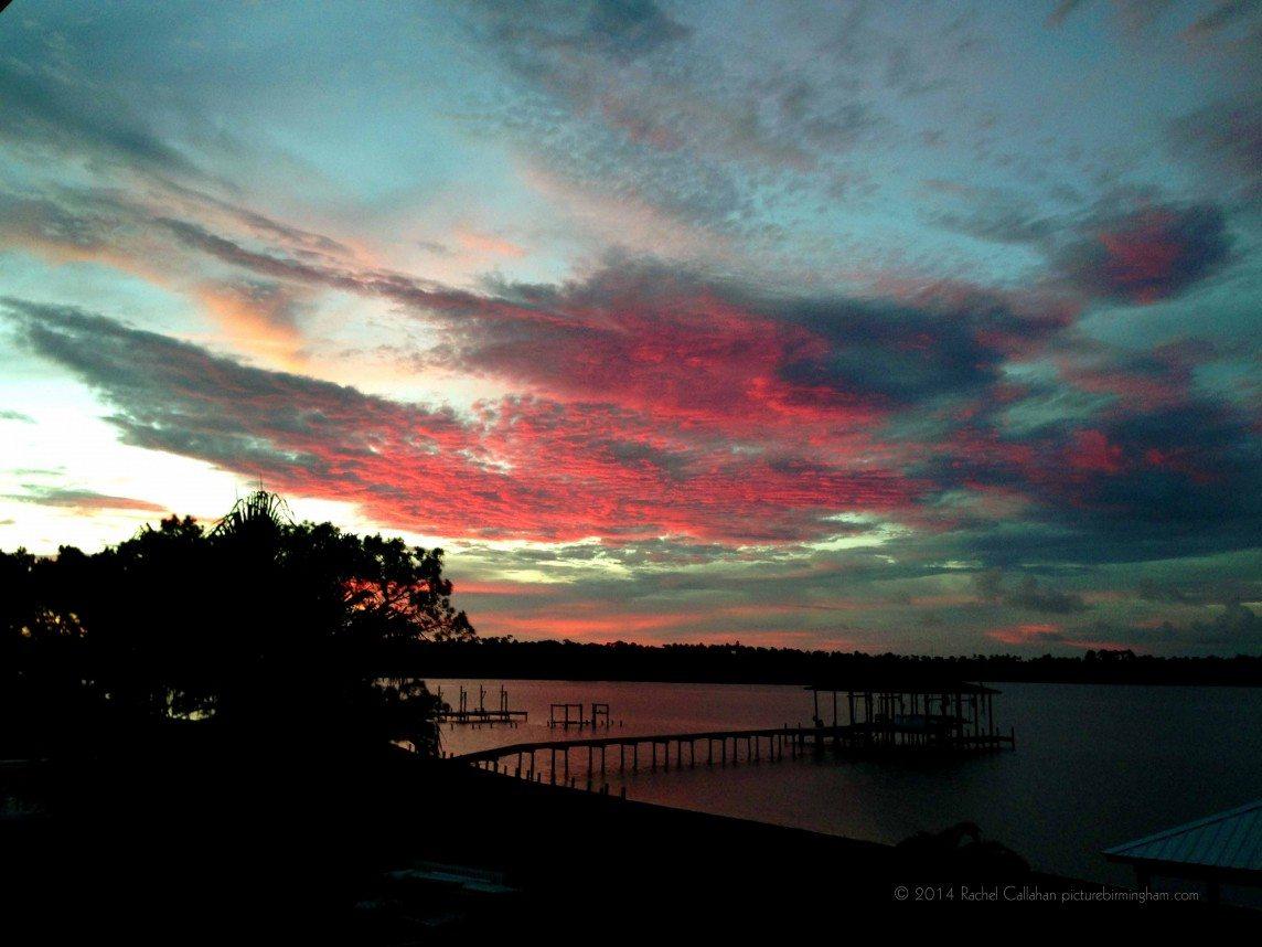 Wolf Bay Orange Beach Sunset