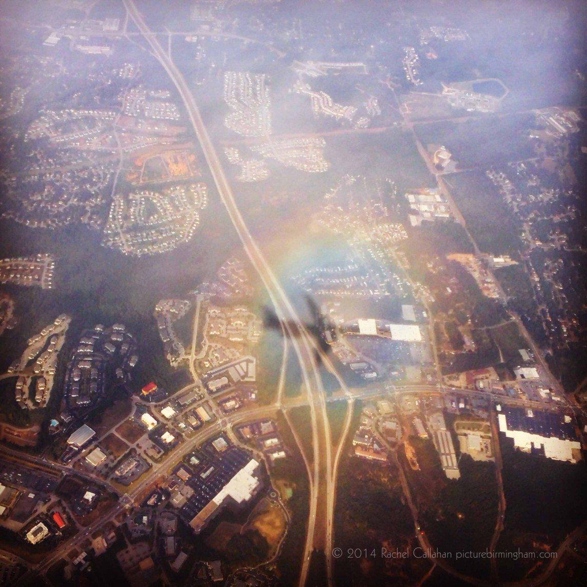 My Shadow In a Rainbow over Atlanta