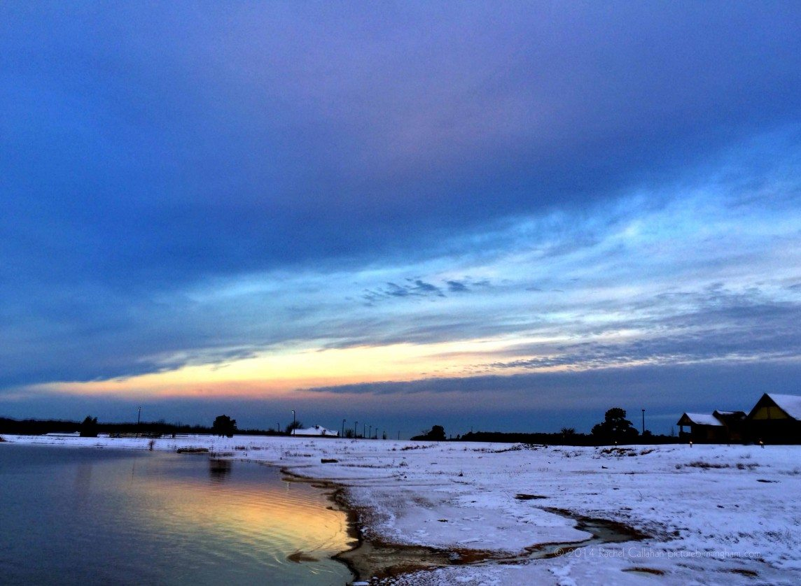A Snowy Sunrise on Lake Eufaula