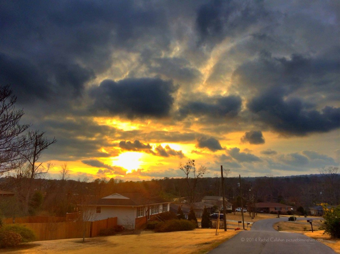 An Angry Sunset over Cahaba Heights