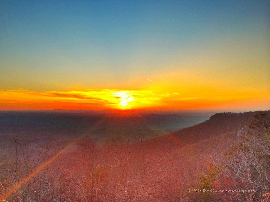 Sunset From Alabama's Highest Point