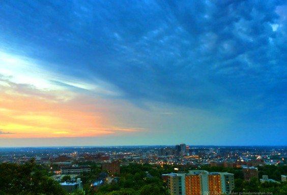 Colorful Dusk Over Birmingham