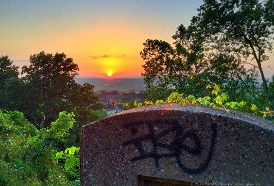Birmingham Graffiti Tombstone Sunset