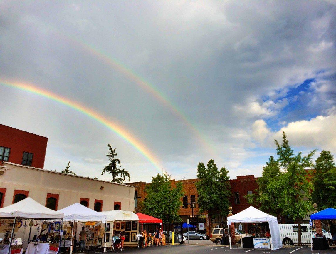Double Rainbow over Birmingham Artwalk