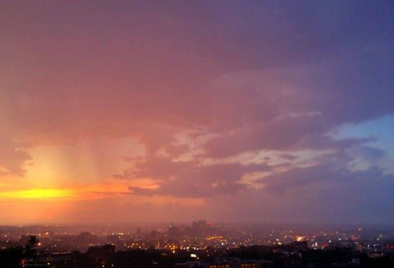 When a Storm and Sunset collides.