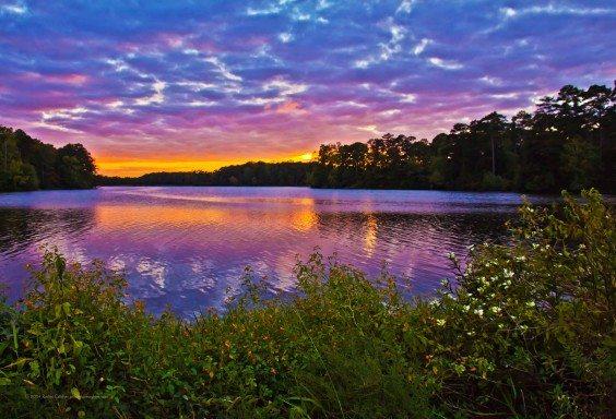 A Moody Sunset at Callaway Gardens