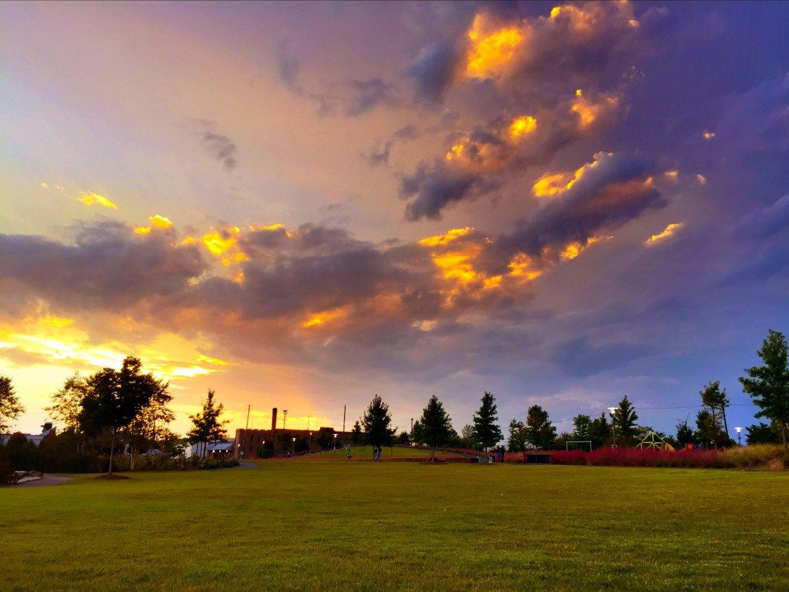 A Stormy Sunset Over Railroad Park
