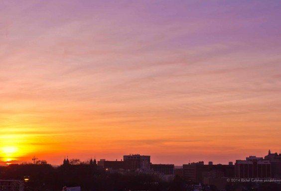 Sunset over UAB