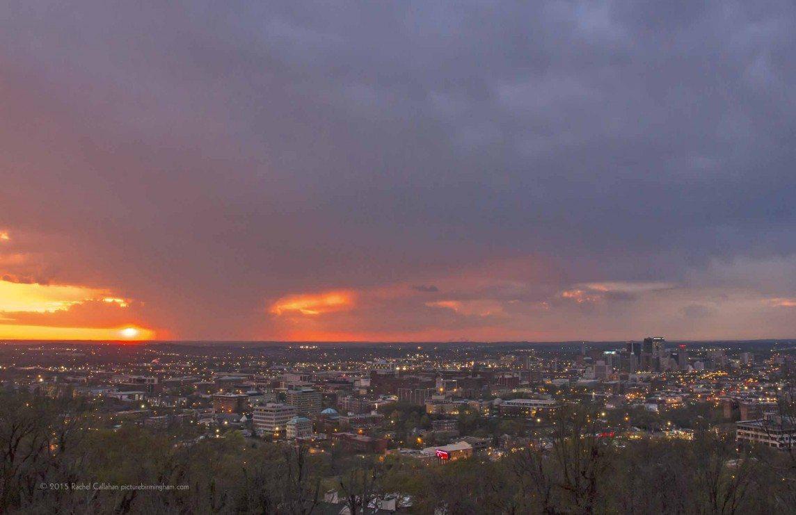 Stormy Sunset Over Birmingham
