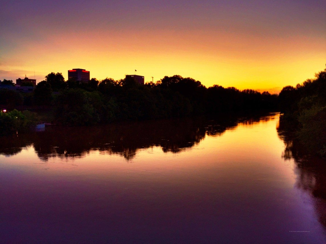 Sunset Over the Ocmulgee River
