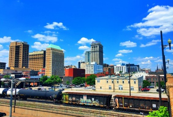 Downtown in the Spring