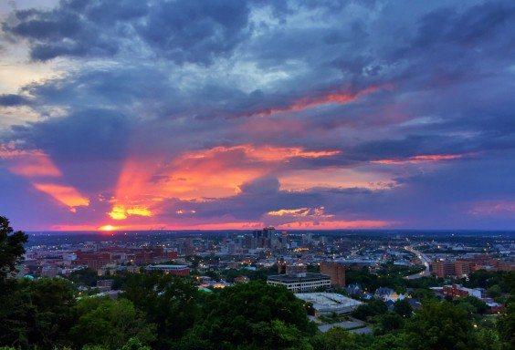 Epic Rays over Birmingham