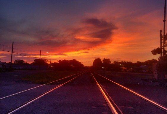 150727 Sunset on the Tracks