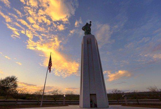 151104b Lady Liberty Watching Sunset