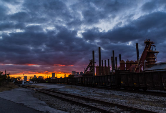 171029b Sloss Furnaces in a Frightful Sunset IMG_5286