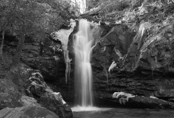 180119 Peavine Falls with Ice BW IMG_1837 s
