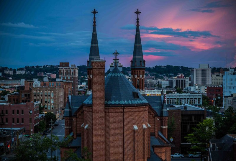 180529 pink skies and the church IMG_9337 web