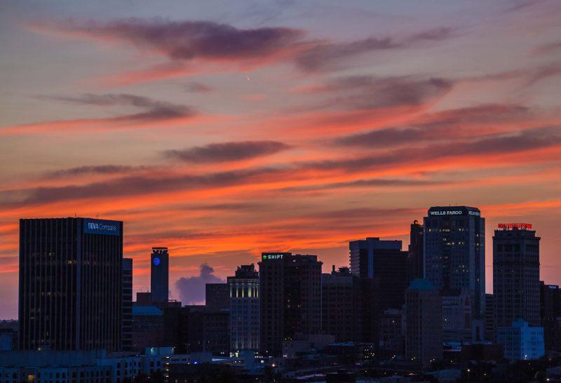 180611 Sunset Over Birmingham in Orange Hues IMG_9830 web